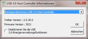 USB 3.0 Host-Controller Utility (für Chipsätze von NEC/Renesas)