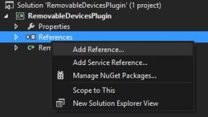Hinzufügen einer Referenz in Visual Studio