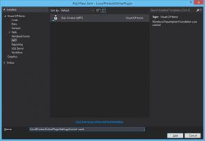 Hinzufügen eines WPF-Controls