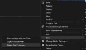 App Package erstellen