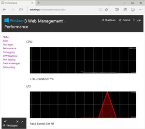 Web-Oberfläche von Windows 10 IoT