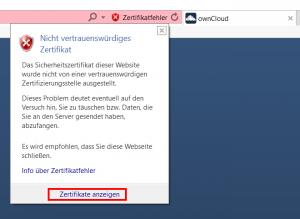 Zertifikat-Warnung im Internet Explorer