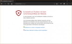 Browser-Warnung wegen selbst signiertem Zertifikat