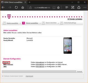 APN-Tool der Telekom