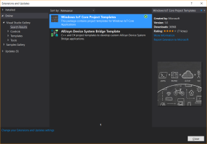 Visual Studio Project Templates für IoT