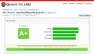 SSL-Test der ownCloud-Installation
