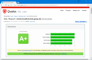 SSL-Test der Nextcloud-Installation