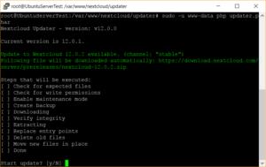 Nextcloud Updater über die Kommandozeile