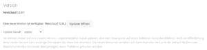 Ein Update für Nextcloud ist verfügbar