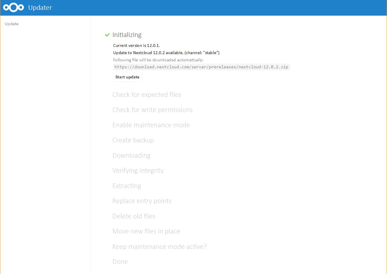 Nextcloud: Updates richtig durchführen » DecaTec