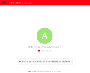 Anonymer Upload mit File-Drop