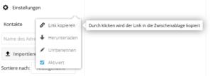 CardDAV-URL in Nextcloud ermitteln