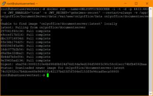 Installation von ONLYOFFICE mittels Docker