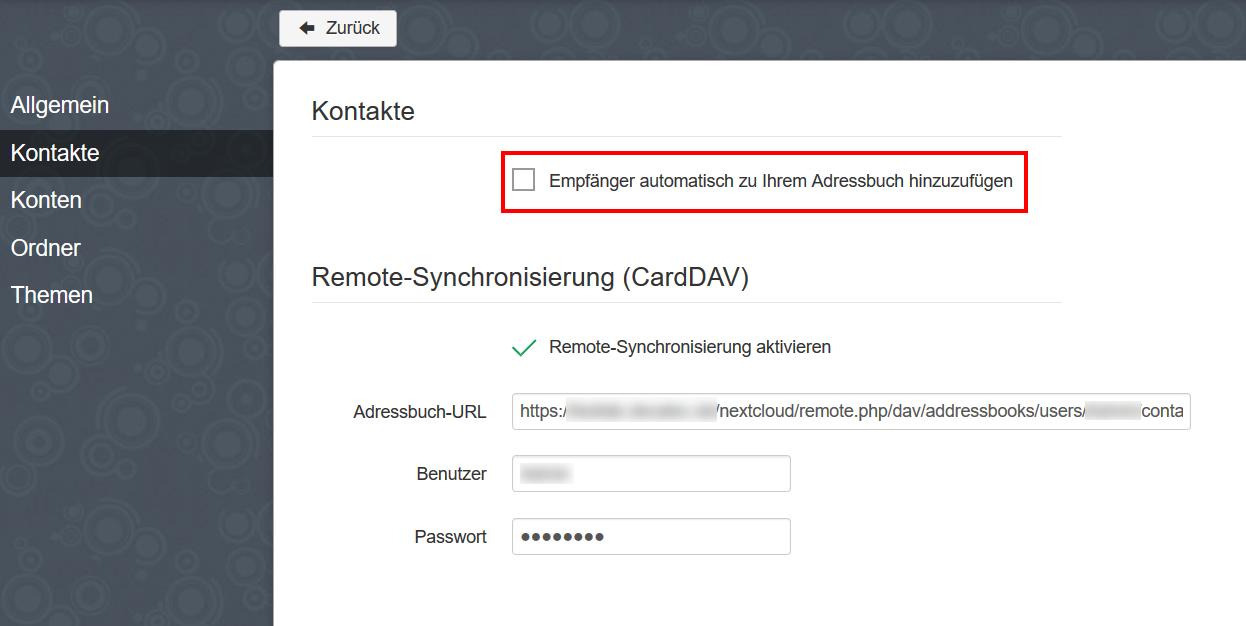 Nextcloud: Web-Mail mit RainLoop » DecaTec