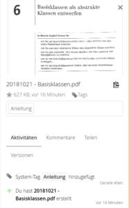 Nextcloud: Zuweisen von Tags zu Dokumenten