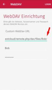 Scanbot: WebDAV Einrichtung