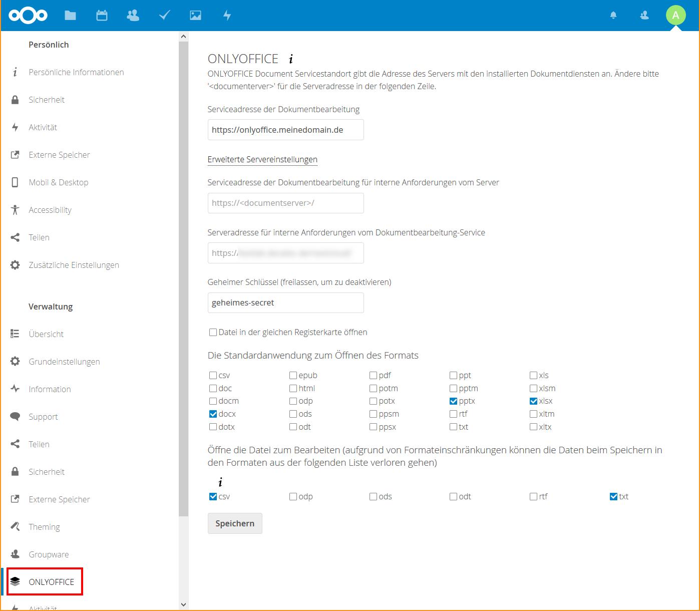 Nextcloud: Online-Office mit ONLYOFFICE (mit eigener