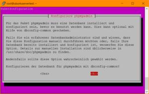 phpMyAdmin Setup: Konfiguration mittels dbconfig-common