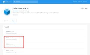 Die aktuelle Version im Docker Hub