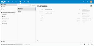 Geöffnete KeePass-Datei in Nextcloud/Keeweb