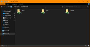 Direkter Zugriff auf die Freigaben (Windows)