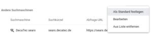 searx als Suchmaschine in Chrome hinzufügen