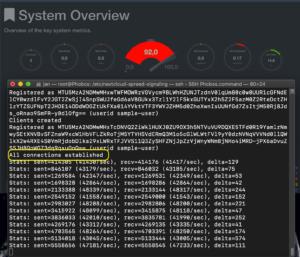 Benchmark des Signaling Servers