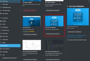 Die App Two-Factor Webauthn im Nextcloud App Store
